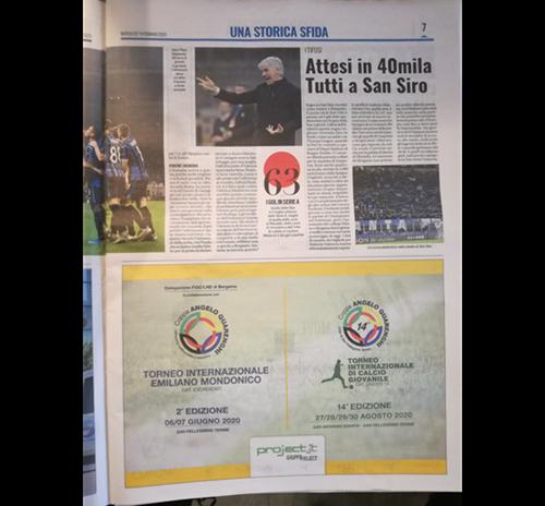 14a Coppa Quarenghi e 2° Torneo Mondonico su Tuttosport