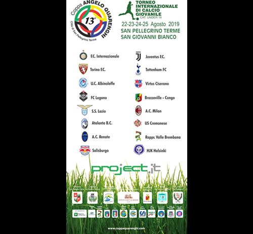 """LA MANIFESTAZIONE Coppa Quarenghi, a San Pellegrino il via alla 13^ edizione del torneo """"fucina di t"""