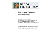 Banca Fideuram - MARIO ALDO COLOMBO Privater Banker