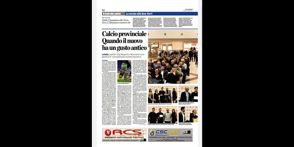 Eco di Bergamo Gran Galà del calcio bergamasco 2019