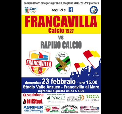 Francavilla Calcio Vs Rapino Calcio