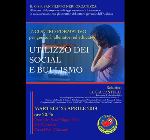 Incontro formativo - UTILIZZO DEI SOCIAL E BULLISMO