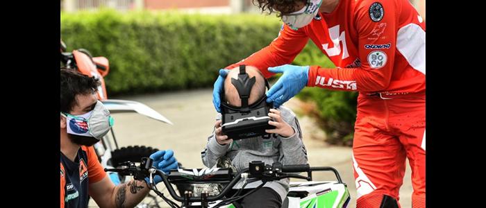 La mototerapia Take Away porta emozioni a Ravanusa