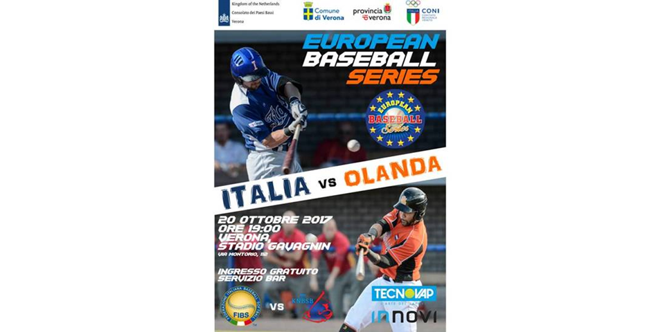 """EUROPEAN BASEBALL SERIES – ITALIA OLANDA"""