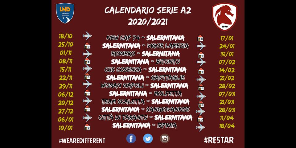 Calendario Andata e Ritorno 2020/21