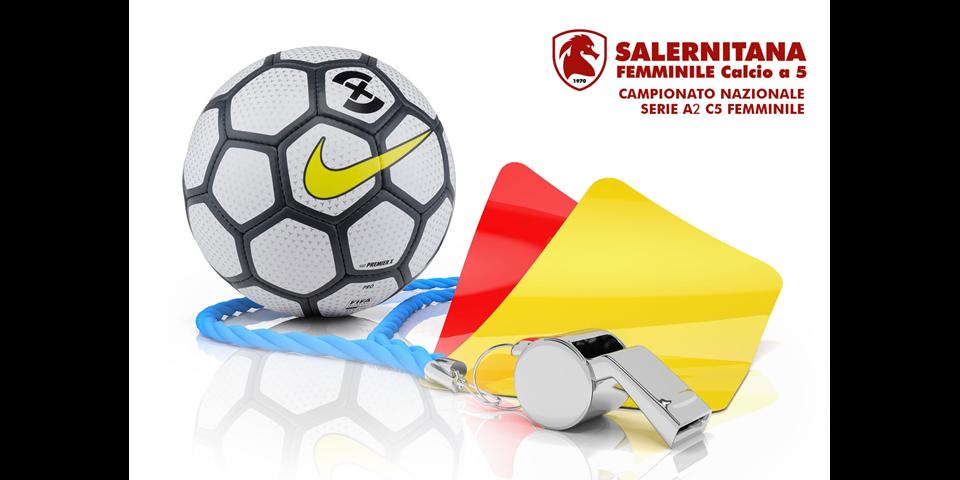 SALERNITANA FEMMINILE - Futsal Rionero: la designazione arbitrale