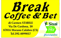 Bar - Sala sommesse e servizi SNAI - Break Cofee&Bet - Morano Calabro (CS)