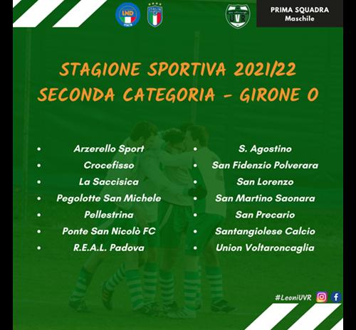 Prima Squadra Maschile - i gironi 2021/22